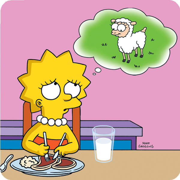lisa-simpson-vegetarian