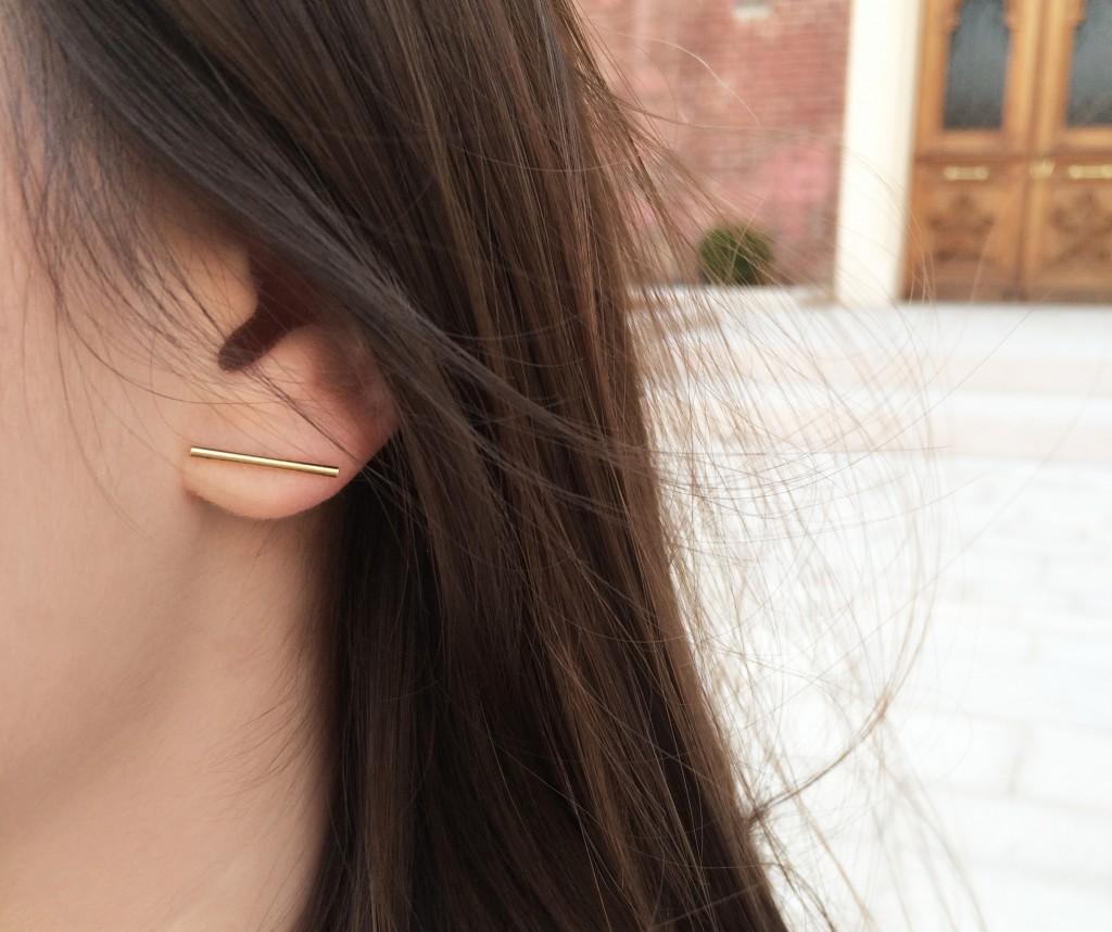 boucle d'oreille kaki 2