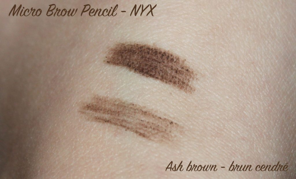 Ash brown swatches nyx micro brown pencil