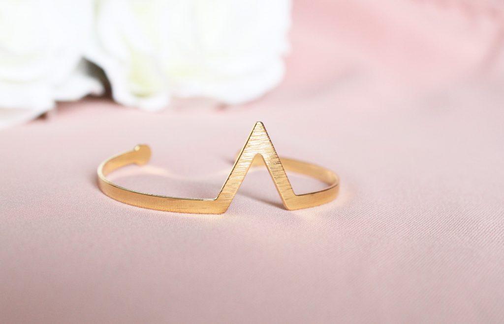 bracelet manchette V luna pyxis